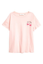 Wide T-shirt - Powder pink - Ladies | H&M CN 1