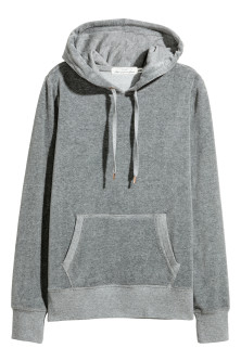 Sweat-shirt capuche en velours
