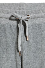 Velour joggers - Grey - Ladies | H&M CN 3