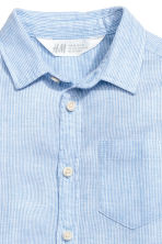 Linen-blend shirt - Light blue/Striped - Kids | H&M 4