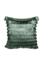 Tiered-fringe cushion cover - Moss green - Home All | H&M CA 2