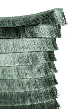 Tiered-fringe cushion cover - Moss green - Home All | H&M CA 4