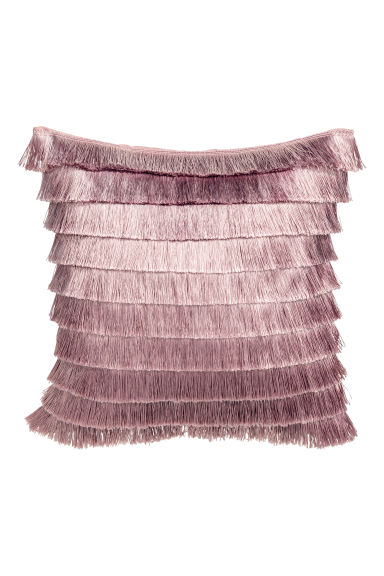 Tiered-fringe cushion cover - Powder pink - Home All | H&M CN 1