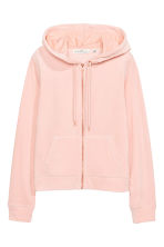 Velour hooded jacket - Powder pink - Ladies | H&M 2