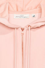 Velour hooded jacket - Powder pink - Ladies | H&M 3