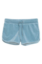 Shorts in velour - Grigio-blu - DONNA | H&M IT 2