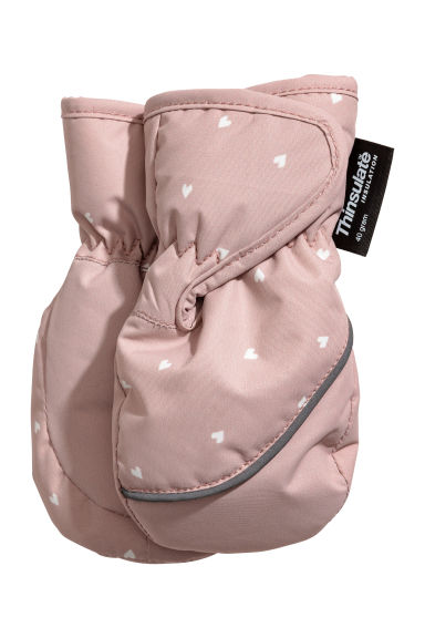 Ski mittens - Light pink - Kids | H&M 1
