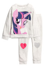 Pyjama en molleton - Gris clair/My Little Pony - ENFANT | H&M FR 1