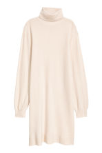 Knitted cashmere tunic - Light beige - Ladies | H&M IE 2