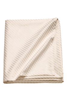 Slub-weave cotton tablecloth