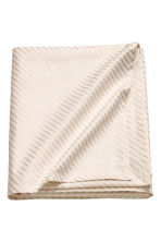 Slub-weave cotton tablecloth - White/Gold-coloured stripes - Home All | H&M CN 1