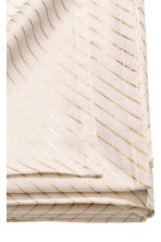 Slub-weave cotton tablecloth - White/Gold-coloured stripes - Home All | H&M CN 2