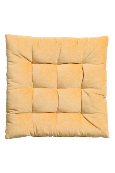 Velvet seat cushion - Yellow - Home All | H&M GB