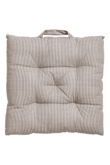 Striped seat pad - Mole/Grey striped - Home All | H&M IE