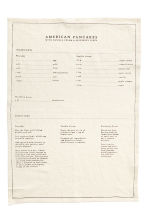 Linen-blend Tea Towel - White/American pancakes - Home All | H&M CA 2