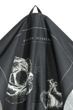 Printed tea towel - Anthracite grey - Home All | H&M CN 3