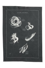 Printed tea towel - Anthracite grey - Home All | H&M CN 2