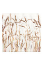 Paper napkins - White/Rye grass - Home All | H&M IE 1