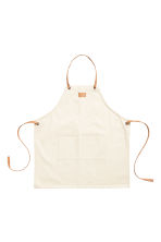 Cotton twill apron - Natural white - Home All | H&M CN 1