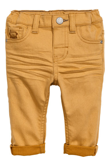Twill trousers - Mustard yellow - Kids | H&M 1