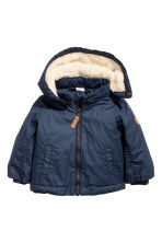 Pile-lined Jacket - Dark blue - Kids | H&M CA 1