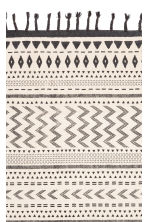 Tasseled Cotton Rug - Natural white/charcoal gray - Home All | H&M CA 2