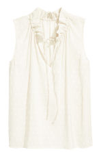 Sleeveless top - White - Ladies | H&M 2