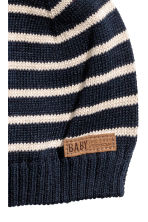 Knitted hat - Dark blue -  | H&M 2