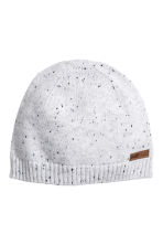 Knitted hat - Light grey/Nepped - Kids | H&M 1