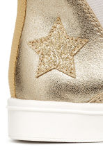 Chelsea boots with appliqués - Gold/Stars - Kids | H&M 4