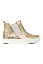 Chelsea boots with appliqués - Gold/Stars - Kids | H&M CN 1