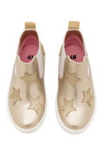 Chelsea boots with appliqués - Gold/Stars - Kids | H&M CN 2