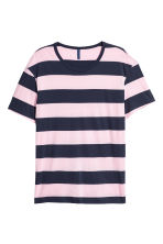 Striped T-shirt - Dark blue/White striped - Men | H&M 2