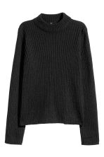 Rib-knit Sweater - Black - Ladies | H&M CA 2
