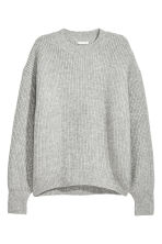 Ribbed jumper - Grey - Ladies | H&M CN 2