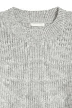 Ribbed jumper - Grey - Ladies | H&M CN 3