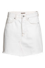 Denim skirt - White denim - Ladies | H&M CA 2
