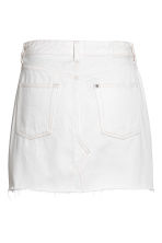 Denim skirt - White denim - Ladies | H&M CA 3