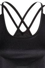 Sports top with sports bra - Black - Ladies | H&M 4