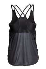 Sports top with sports bra - Black - Ladies | H&M 3