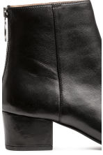 Leather ankle boots - Black - Ladies | H&M 3
