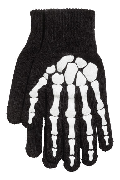 Gloves - Black/Skeleton - Kids | H&M CN 1