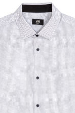 Camicia Slim fit - Bianco/pois - UOMO | H&M IT 3