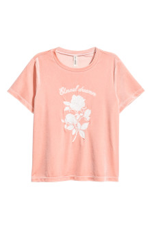 Short velour T-shirt