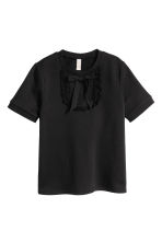 Short-sleeved sweatshirt - Black - Ladies | H&M IE 2