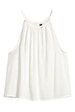Crinkled top - White - Ladies | H&M 2