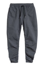 Cotton twill joggers - Dark grey - Men | H&M 2