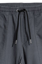 Cotton twill joggers - Dark grey - Men | H&M 3