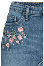 Denim skirt - Denim blue/Flowers - Ladies | H&M 3