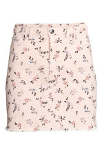 Denim Skirt - Powder pink/floral - Ladies | H&M CA 2